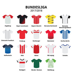 Bundesliga jerseys 2017 - 2018 german football vector