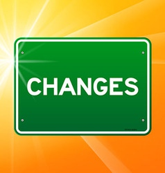 Changes Green Sign vector image