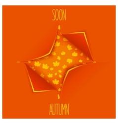Creative autumn design vector image