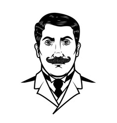 gentleman isolated on white background design vector image vector image