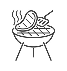 Line style barbecue icon vector image vector image