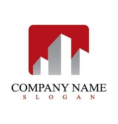 real estate commercial logo vector image