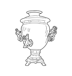 Russian samovar vector