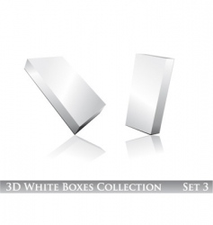 white boxes icon set vector image vector image