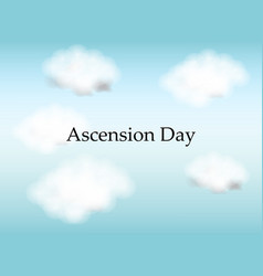 christian festival ascension day vector image