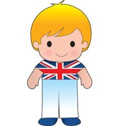 Poppy British Boy vector image vector image
