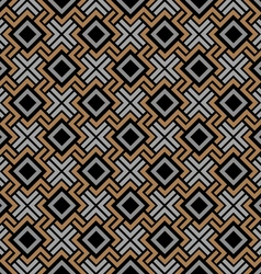 Seamless geometric pattern in Celtic style vector image