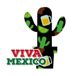 viva mexico traditional card vector image