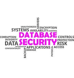 Word cloud database security vector