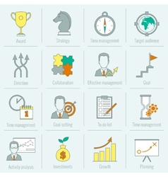 Business strategy planning icon flat line vector image