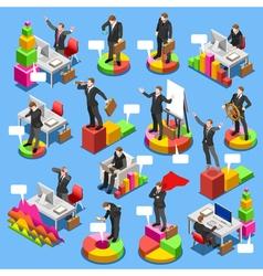 Businessman Set Isometric People vector image