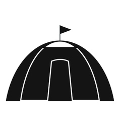 Dome tent black simple icon vector image vector image