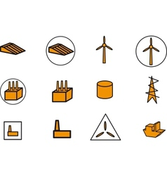 Energy electricity power icons vector image