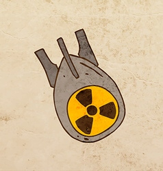 Nuclear energy power symbol cartoon vector