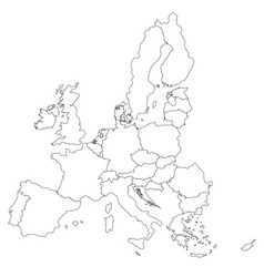 simple all european union countries in one map vector image vector image