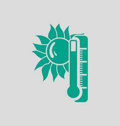 Summer heat icon vector