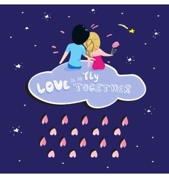 Valentine Boy and girl Love vector image