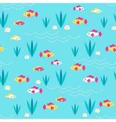 Pattern fishes sand vector image