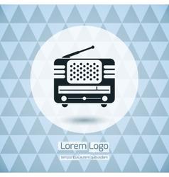 Radio Icon Logo vector image vector image