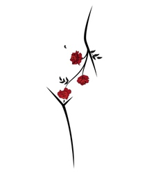 woman body and roses vector image