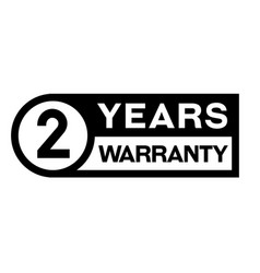 2 year warranty stamp on white vector image