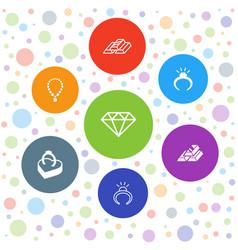 7 precious icons vector
