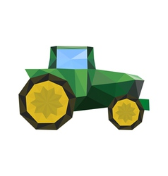 abstract origami tractor vector image