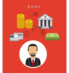 Bank design vector