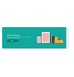 banner mcommerce vector image