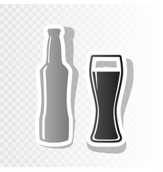 Beer bottle sign new year blackish icon vector