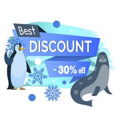 best winter discount sea calf and emperor penguin vector image
