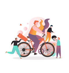 Bike and cycle accessories concept for web vector