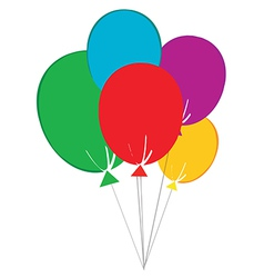 Birthday baloons vector