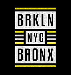 brooklyn vintage print vector image
