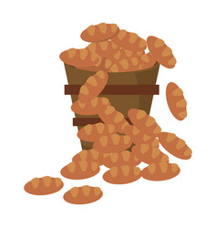 Bucket bread multiplication miracle image vector