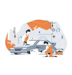 car repair service vector image