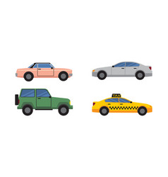 Cars set of different color vector