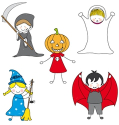 cartoon halloween card vector image