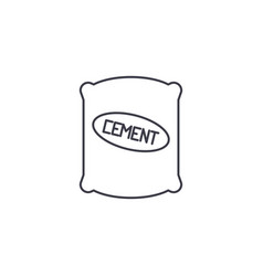 cement sack line icon sign vector image