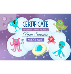 Certificate for a kids teaching game vector