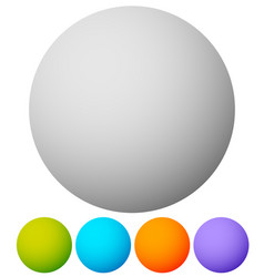 circle shapes in 5 colors eps 10 vector image