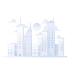 city grey flat design vector image