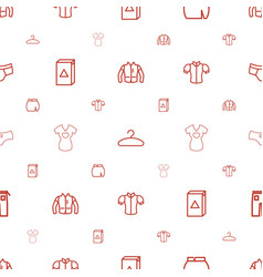 clothes icons pattern seamless white background vector image