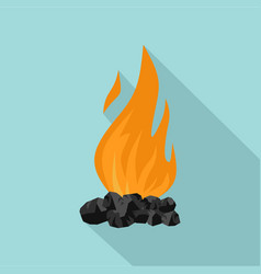 Coal fire icon flat style vector