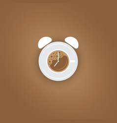 Coffee break background with cup vector