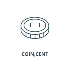 coincent line icon coincent outline vector image