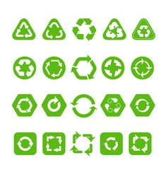 Collection of different recycle icons vector