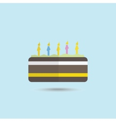 Color cake vector image