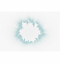 cracked glass effect on transparent background vector image