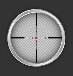 Crosshair sniper icon realistic style vector